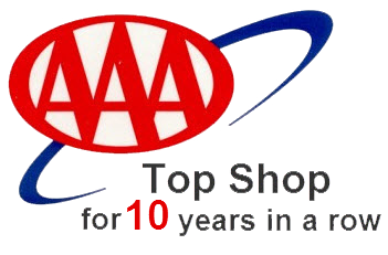 AAA Top shop 10 years in a row, Westside Tire Center, Des Moines, IA, 50325