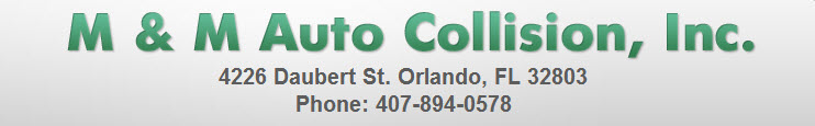 M & M Auto Collision, Inc., Orlando FL, 32803, Collision Repair, Auto Paint Shop, Auto Body Shop, Windshield Replacement and dent removal