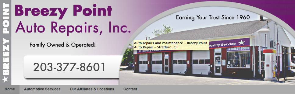 Breezy Point Auto Service, Stratford CT, 06615, auto maintenance, Oil Change Service, Clutch Repair, Timing Belt Replacement and Battery Service