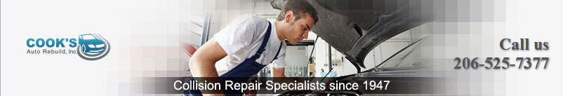 Cook's Auto Rebuild, Seattle WA and Maple Leaf WA, 98115, Collision Repair, Auto Paint Shop, Auto Body Shop, Wheel Alignment Service and dent removal