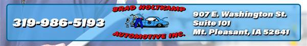 Brad Holtkamp Automotive Inc, Mt. Pleasant IA, 52641, Maintenance & Electrical Diagnostic, Auto Repair, Brake Repair and Suspension Work