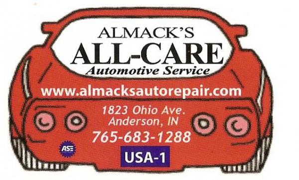 Almack's All-Care Automotive, Anderson IN, 46016, Automotive repair, Brake Service, Advanced Diagnostics, Routine Maintenance and Engine Repair
